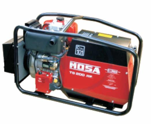 Mosa TS200 DES/CF Welding Generator & Welding Leads