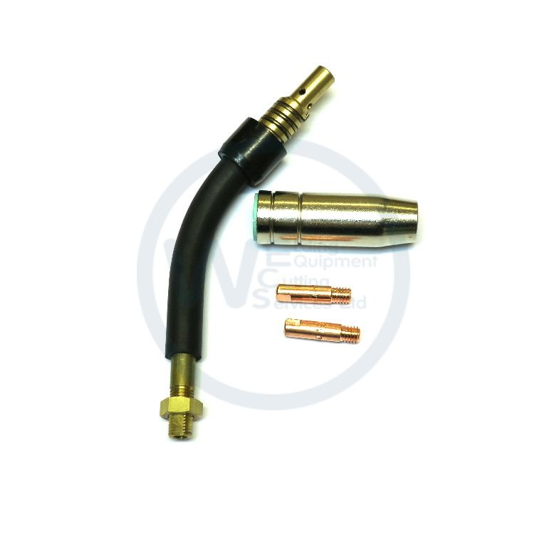 Hobby Clarke Gas Nozzle 45mm /& 2 x Mig Contact Tips Mig Torch Neck