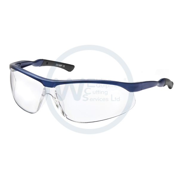 Clear Safety Spectacles Blue P3442