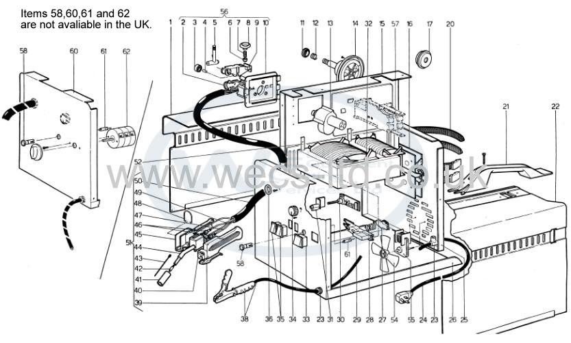 Cebora Pocket Turbo 130 Parts List