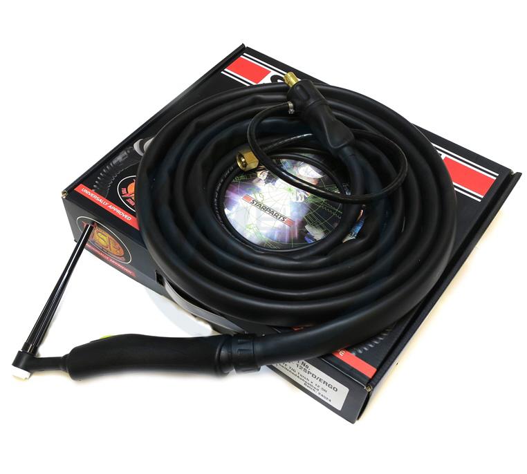 WP9 Rigid Neck 12ft 10/25 Tig Torch