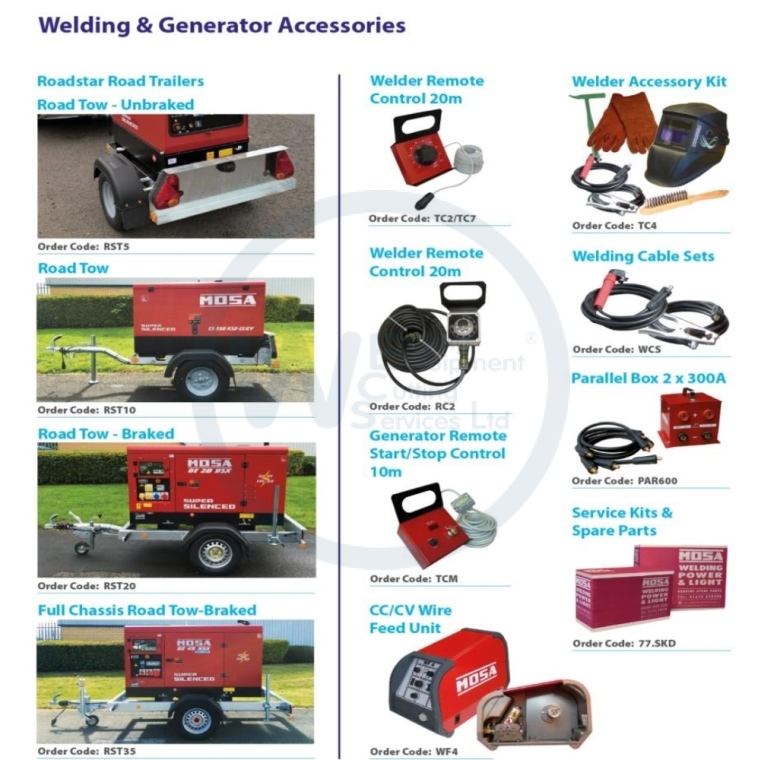 Mosa Welding & Generator Accessories
